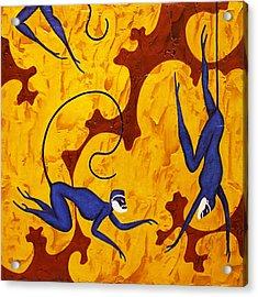 Blue Monkeys No. 45 Acrylic Print
