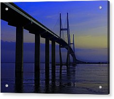 Blue Mood Bridge Acrylic Print