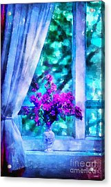 Blue Mood Acrylic Print by Shirley Stalter