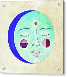 Blue Moon Acrylic Print by Clary Sage Moon