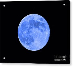 Blue Moon Close Up Acrylic Print