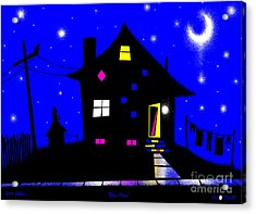 Blue Moon Acrylic Print by Cristophers Dream Artistry