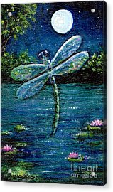 Blue Moon Dragonfly Acrylic Print