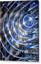Blue Moon Falling Acrylic Print by Leigh Odom
