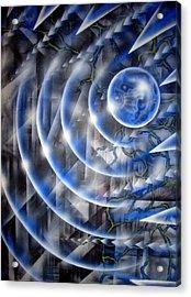 Blue Moon Falling Acrylic Print by Leigh Odom