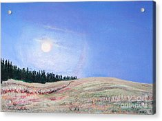 Blue Moon Acrylic Print by Lucinda  Hansen