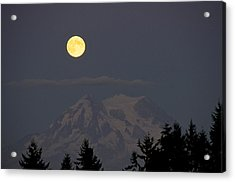 Blue Moon - Mount Rainier Acrylic Print