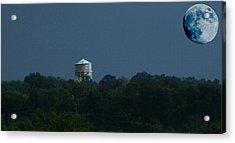 Blue Moon Over Zanesville Water Tower Acrylic Print