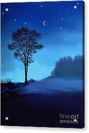 Blue Moon Acrylic Print by Robert Foster