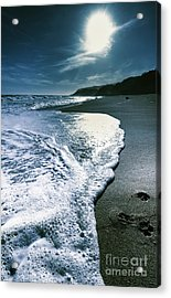 Acrylic Print featuring the photograph Blue Moonlight Beach Landscape by Jorgo Photography - Wall Art Gallery