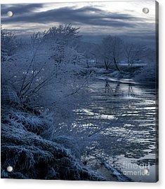 Blue Morning Acrylic Print by Angel Ciesniarska