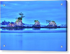 Blue Morning Siletz Bay Oregon Acrylic Print