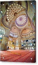 Blue Mosque Interior Acrylic Print by Artur Bogacki