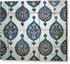 Blue Mosque Tiles Acrylic Print