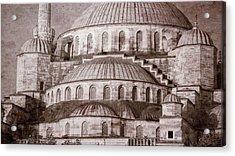 Blue Mosque - Vintage Print Acrylic Print