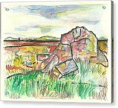 Blue Mounds State Park Acrylic Print by Matt Gaudian