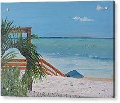 Blue Mountain Beach Dune Acrylic Print by John Terry