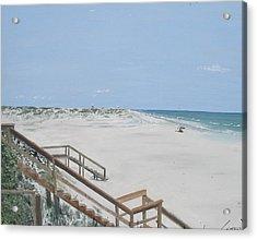 Blue Mountain Beach II Acrylic Print by John Terry