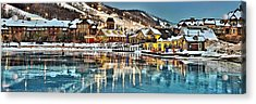 Blue Mountain Ice Reflection Acrylic Print