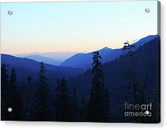 Blue Mountain Layers Acrylic Print