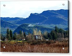 Acrylic Print featuring the photograph Blue Mountain by Sergey Nassyrov