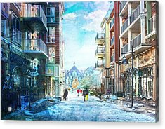 Blue Mountain Village, Ontario Acrylic Print