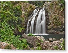 Blue Mountain Waterfall Acrylic Print