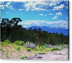 Blue Mountain West Acrylic Print