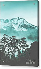Blue Mountain Winter Landscape Acrylic Print