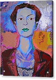 Blue Nev Acrylic Print by Noredin Morgan