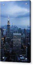 Blue New York Acrylic Print