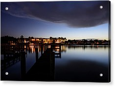 Acrylic Print featuring the photograph Blue Night by Laura Fasulo
