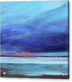 Blue Night Sail Acrylic Print