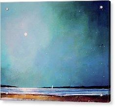Blue Night Sky Acrylic Print by Toni Grote