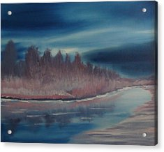 Blue Nightfall Evening Acrylic Print by Rod Jellison