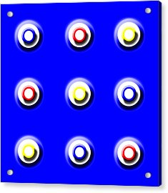 Blue Nine Squared Acrylic Print