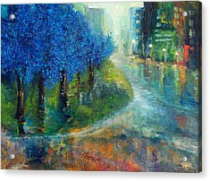 Blue Noon Acrylic Print by Laura Swink
