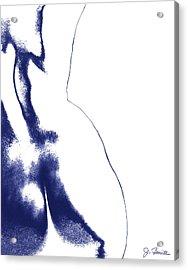 Blue Nude No. 2 Acrylic Print by Joe Bonita