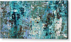 Acrylic Print featuring the painting Blue Ocean - Abstract Art by Carmen Guedez