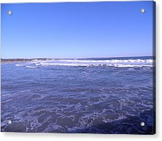 Blue Ocean Acrylic Print by Kate Gallagher