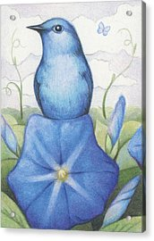 Blue On Blue Acrylic Print by Amy S Turner