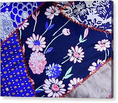 Blue On Blue Acrylic Print by Bonnie Bruno