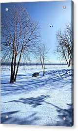 Acrylic Print featuring the photograph Blue On Blue by Phil Koch