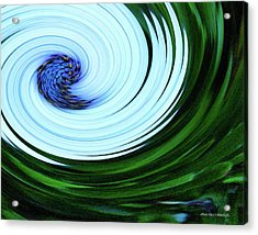 Blue On Flower Acrylic Print