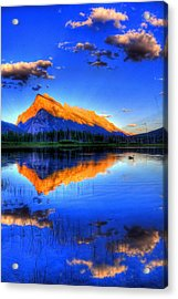 Acrylic Print featuring the photograph Blue Orange Mountain by Test Testerton