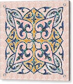 Blue Oriental Tile 01 Acrylic Print
