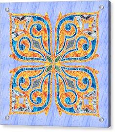 Blue Oriental Tile 02 Acrylic Print