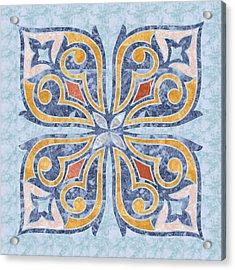 Blue Oriental Tile 04 Acrylic Print