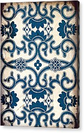 Blue Oriental Vintage Tile 02 Acrylic Print