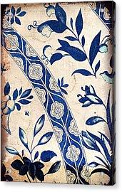 Blue Oriental Vintage Tile 04 Acrylic Print